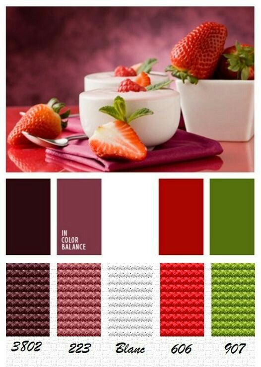 Colour scheme for your home.  #berry #green #red #white #colours simonemaree.com.au