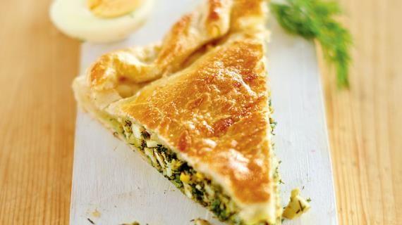 Пирог с укропом и яйцами, пошаговый рецепт с фото