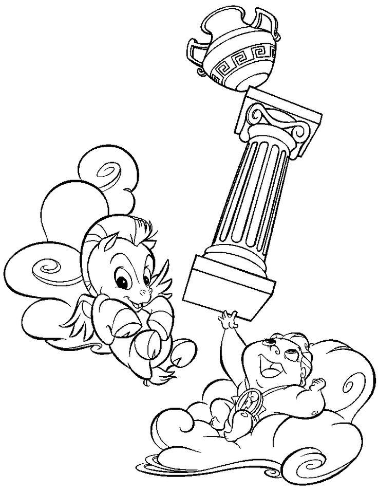 Disney Hercules Film Coloring Pages For Kids Printable