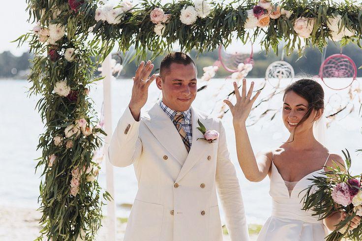 Свадьба в стиле бохо. Выездная свадебная церемония.