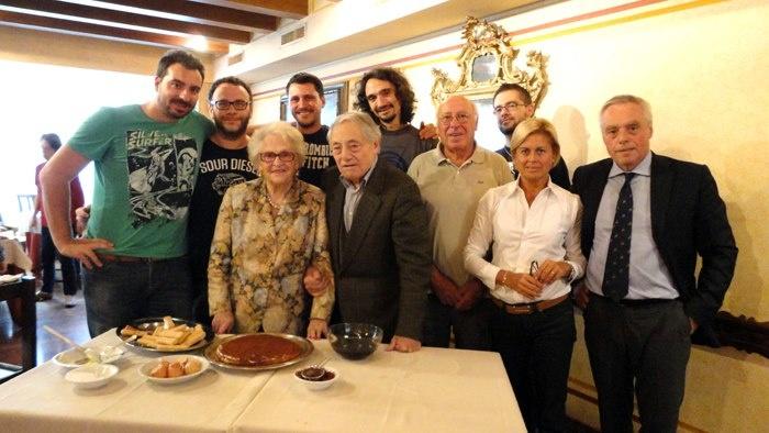"""La Signora Alba, inventrice del tiramisù!  Presso il risotrante """"Le Beccherie"""" Treviso"""
