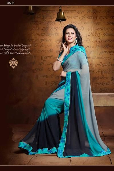 LadyIndia.com #Printed Sarees, Multi Color Designer Printed Sarees-ISH-4506, Printed Sarees, https://ladyindia.com/collections/ethnic-wear/products/multi-color-designer-printed-saree-ish-4506