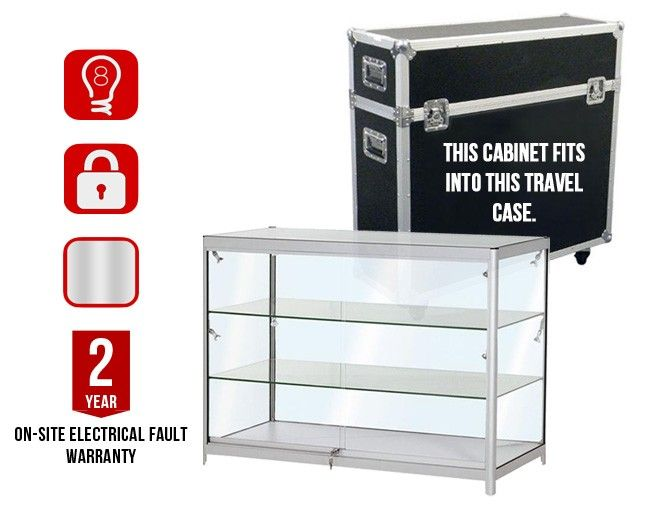 Exceptionnel FDC3 Portable Exhibition Counter Silver