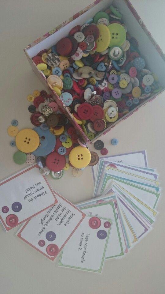 Knopf- Lese- Spiel Karten