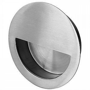 Carlisle Brass, Eurospec, Fingertip FPH1004 Circular Flush Pull  https://www.alldoorhandles.com/Carlisle-Brass-Eurospec-Fingertip-FPH1004-Circular-Flush-Pull.html