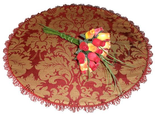 Round Table Topper Table Runner Table by HighEndThreadster on Etsy