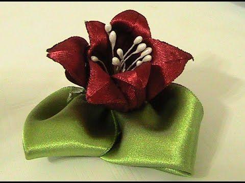 Saten Kurdeleden Tesbih Çiçeği Yapımı - YouTube