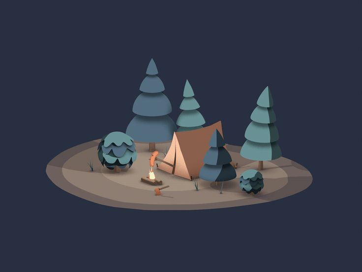 Camping related animation I made for a mobile shopping app!  Check out that cheeky bear trying to hot dog it!  Made in Cinema 4D with Sketch and Toon!