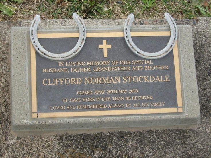 Clifford Norman Stockdale Died 28 May 2003, Quirindi, husband of Esmay.