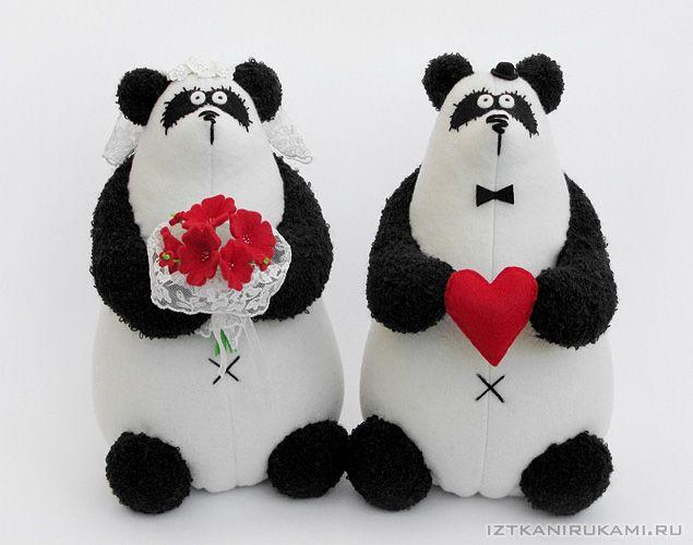 панды. свадьба Текстильные медведи от Анны Удаловой (IzTkaniRukami)