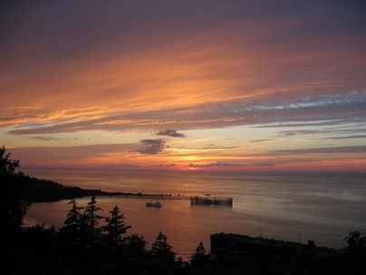 Sandy Cove, Nova Scotia, where i've seen some of the most beautiful sunsets.