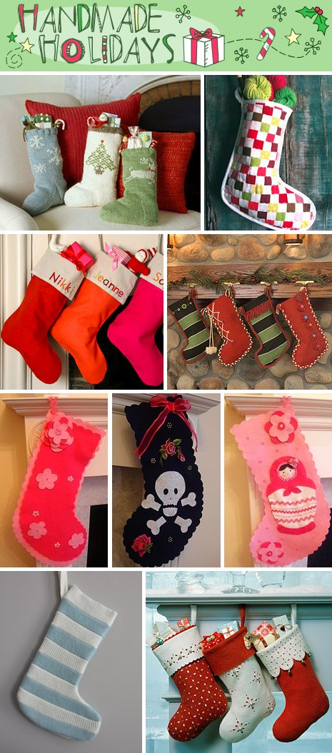 Not only stockings...there are lots of great DIY Christmas crafts in one blog post.