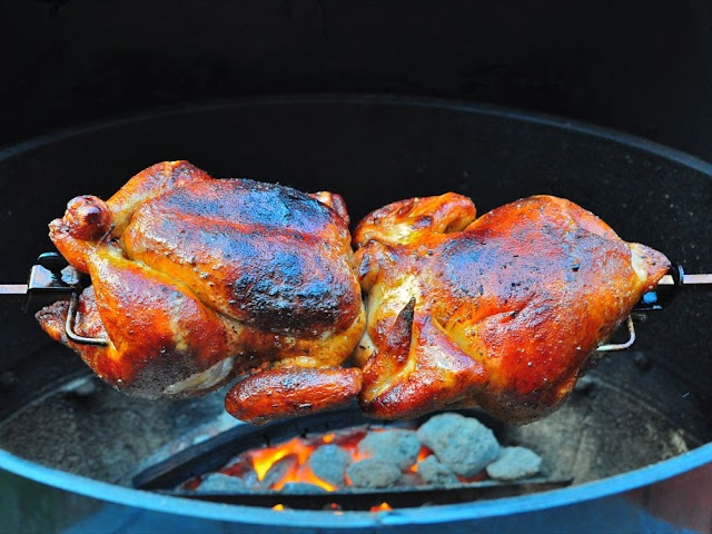 how to cook chicken on a rotisserie grill