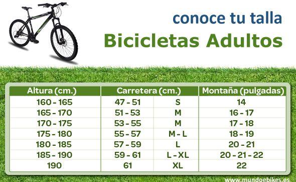¿Qué talla de bici uso? | Ciclos la salud