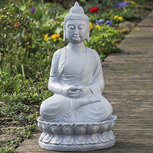 Fontaine d\'Extérieur Bouddha H71cm Matière: résine   Fontaine pour ...