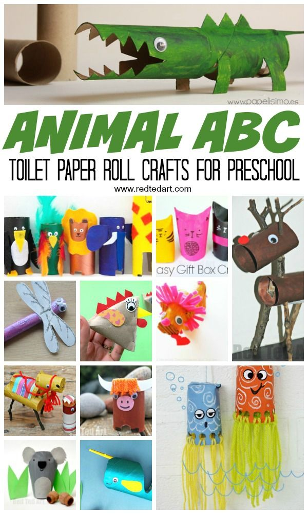 Animal Abc Crafts From Toilet Paper Rolls Red Ted Art Make
