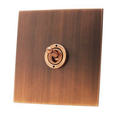 Antique Copper Flat Antique Copper Socket & Switches - SocketsAndSwitches.com