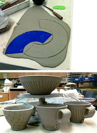 template, bowls and teacups