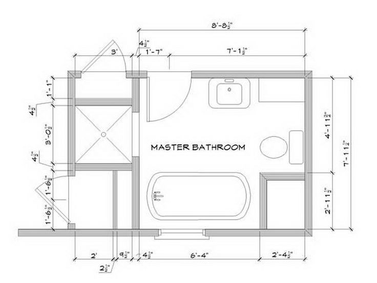 Comfortable Master Bathroom Floor Plans No Tub Designs
