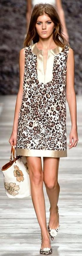 Blugirl S/S 2014 - great mix of floral animal print ♥