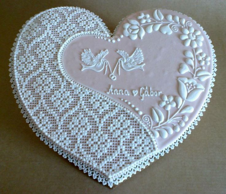 Wedding needlepoint  cookies
