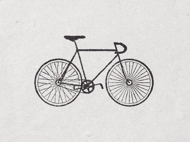 "Bicycle Stamp ""Fixed"". €7.50, via Etsy."