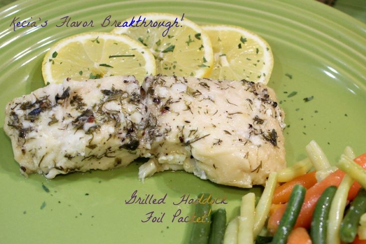 Grilled Haddock Foil Packet
