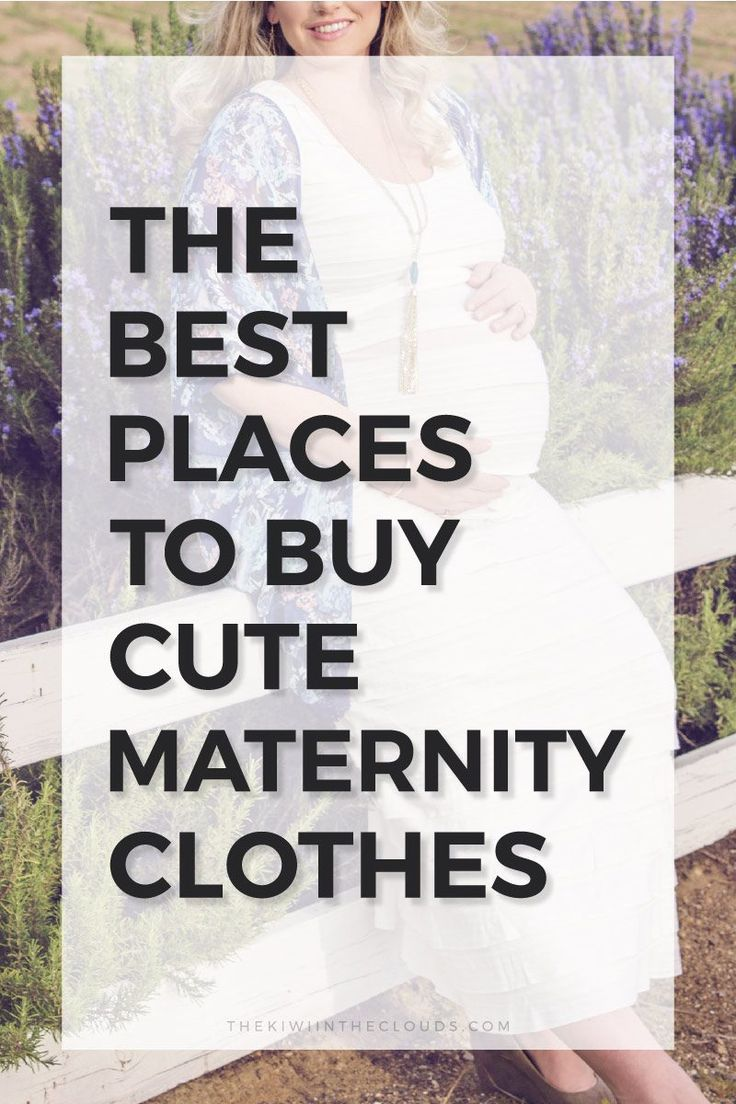 Spend your time searching for the perfect baby name instead of for trendy maternity clothes. These are the best shops for pregnancy clothes you'll love!