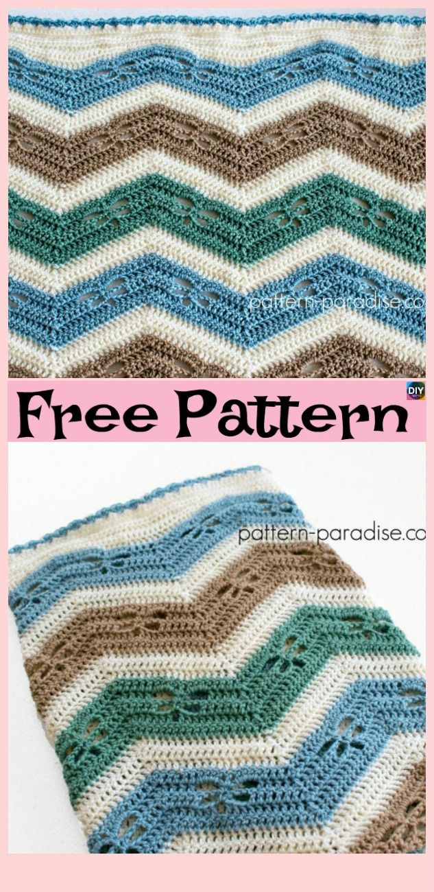 Crochet Dragonfly Stitch Blanket Free Patterns Deken Haken