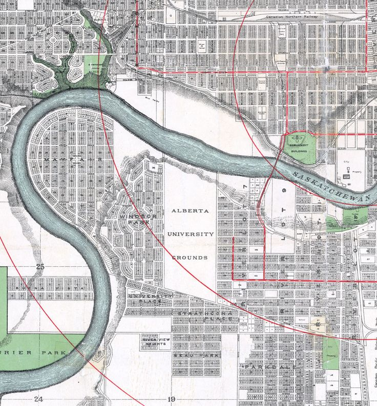 City of Edmonton - Map (1912)