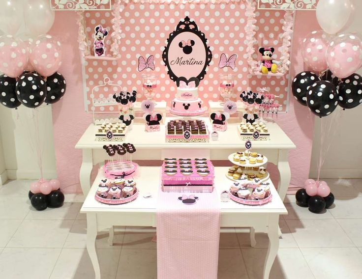"""Mickey Mouse / Minnie Mouse / Baptism """"Minnie Mouse Party """" 
