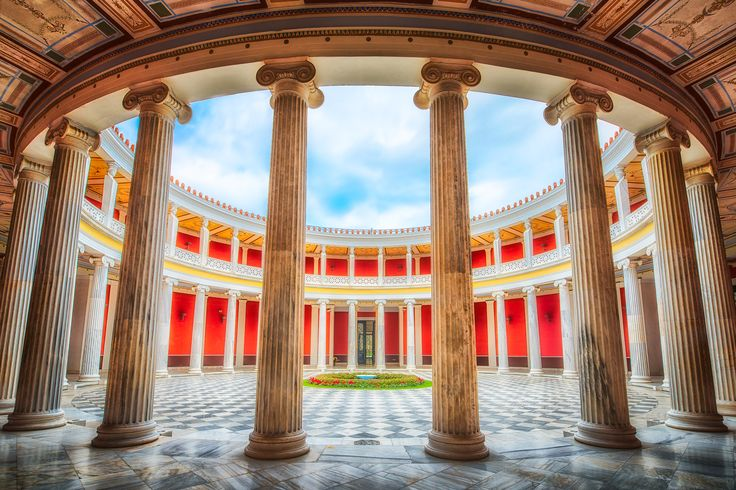 Yesterday you saw the Zappeion from the outside, and I found that already beautiful. But what do you think of its rotunda inside?