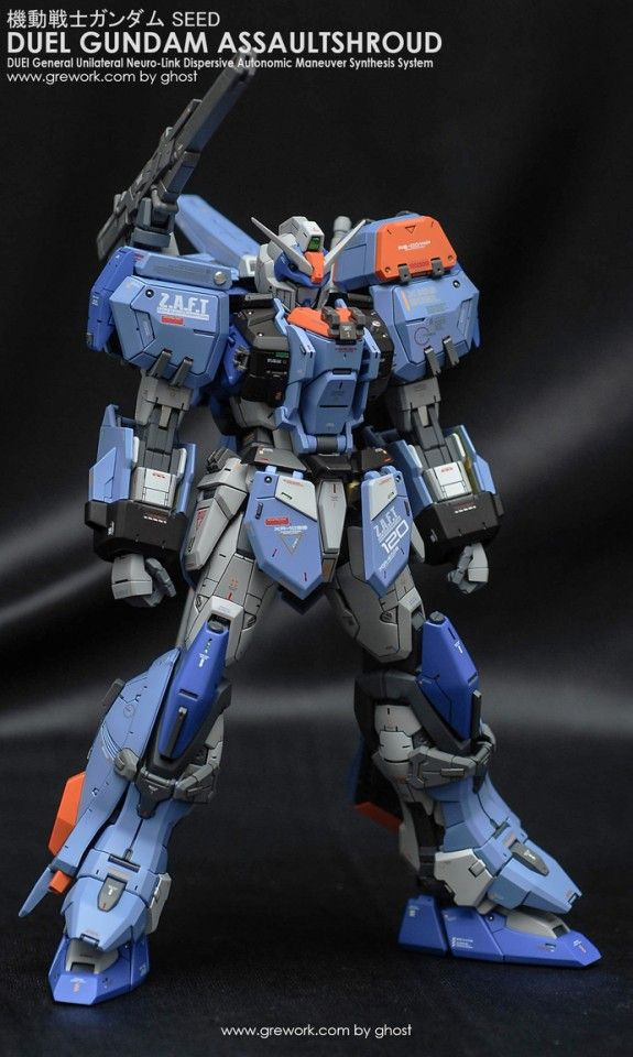 BANDAI MG 1//100 GAT-X102 DUEL GUNDAM ASSAULT SHROUD Model Kit Gundam SEED
