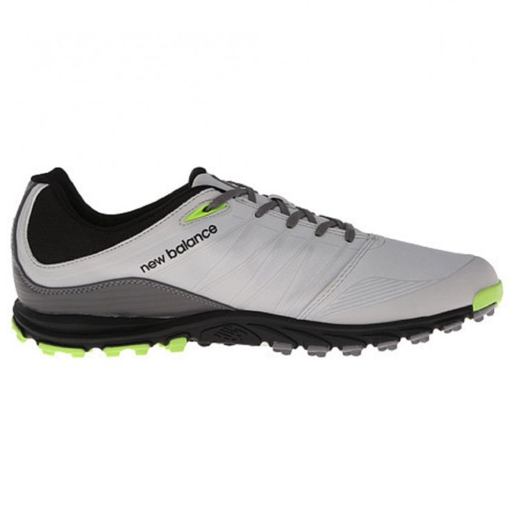 New Balance Minimus NBG1005GRG Grey/Green Men's Golf Shoe from @golfskipin