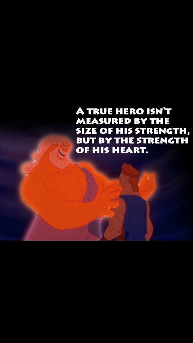 Hercules quote that I'd like to get a tattoo of!