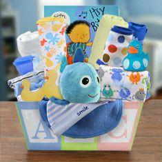Welcome Home Baby Boy Medium Gift Basket  Baby Boy Gift | Baby Gift | Infant Gift | Newborn Gift | Baby Shower idea | Baby Shower Gift | Baby Christmas Gift | Baby Gift Basket | Baby Halloween Costume |  #affiliate