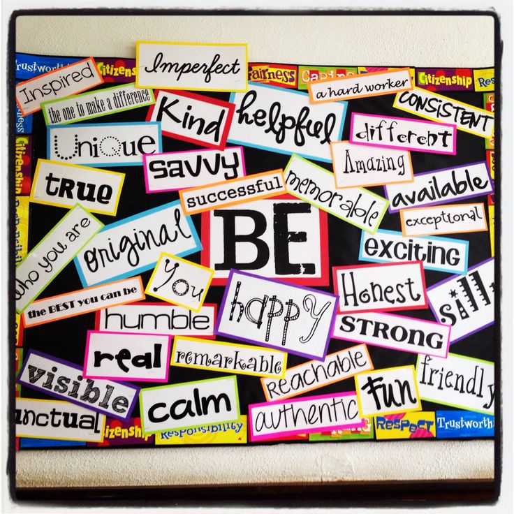 Be Bulletin Board for my 5th grade class!