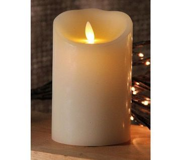 moving flame ivory candle battery operated x 5 timer free remote - Flameless Candles With Timer