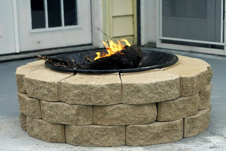 diy firepit. this one only costing $30