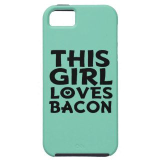 This Girl Loves Bacon - Funny Women's iPhone 5 Case Phone cases for everyone:  www.zazzle.com/worksaheart  Funny, Hers, His, Gamer, Sports, Quotes, Pretty, Family, Wedding, Bride, Custom, Pattern, Chevron, Glitter, Humor, College, Fitness, Pets, Dogs, Cats, Food.  Fast shipping and Professionally Made. You can also PERSONALIZE these for FREE