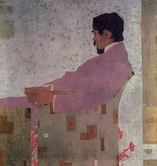 Painting by Egon Schiele, 1909, Portrait of Anton Peschka.