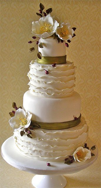 winter wedding cake by nice icing, via Flickr
