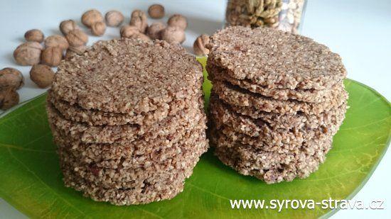 Ořechovo-kokosové sušenky se sezamem a rozinkami (raw food) :: Syrová strava