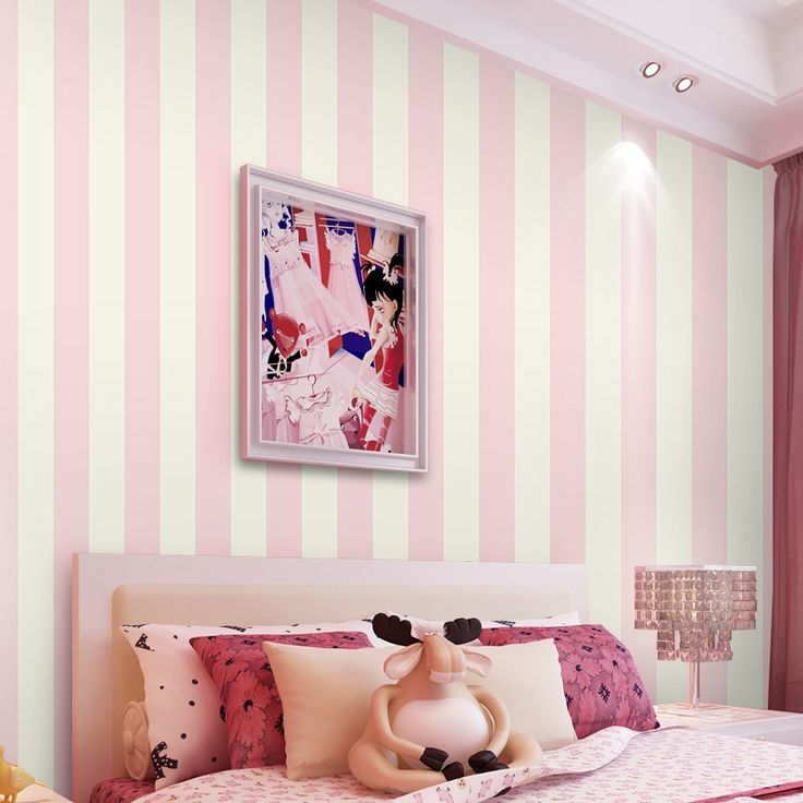 17 best ideas about pink stripe wallpaper on pinterest - Pink and white striped wallpaper bedroom ...