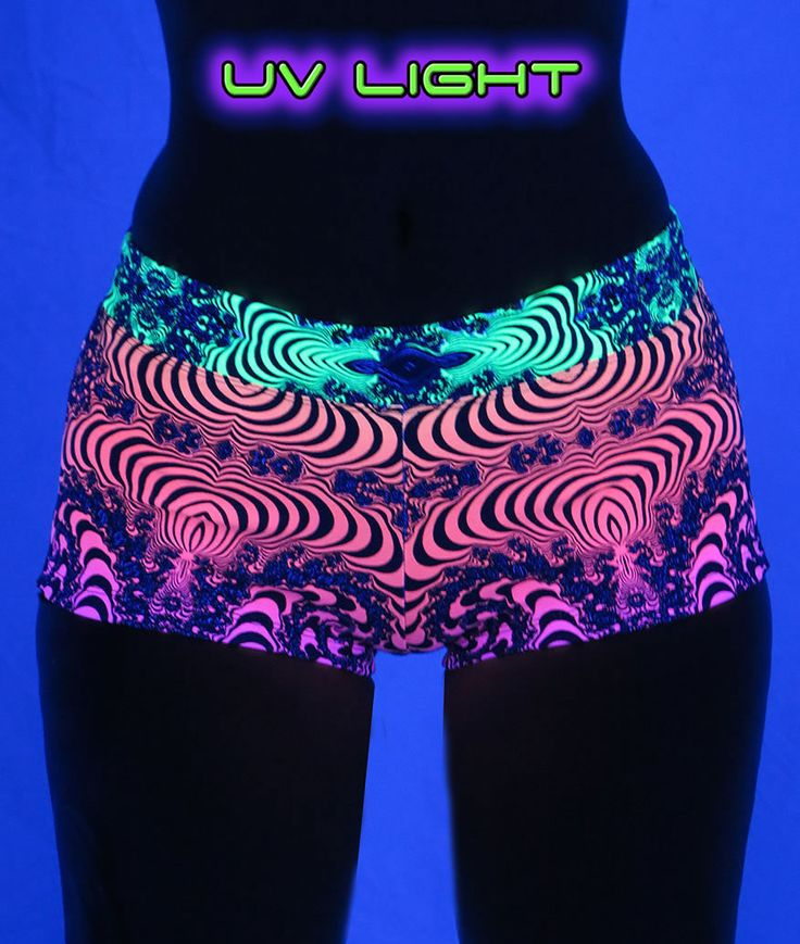 Hot Pants : Fire Fractal  Hot ! Hot ! Hot ! Fully printed hot pants with wide waistband.  Cotton lycra fabric (95% cotton, 5% lycra)  UV Active !  Artwork by Space Tribe