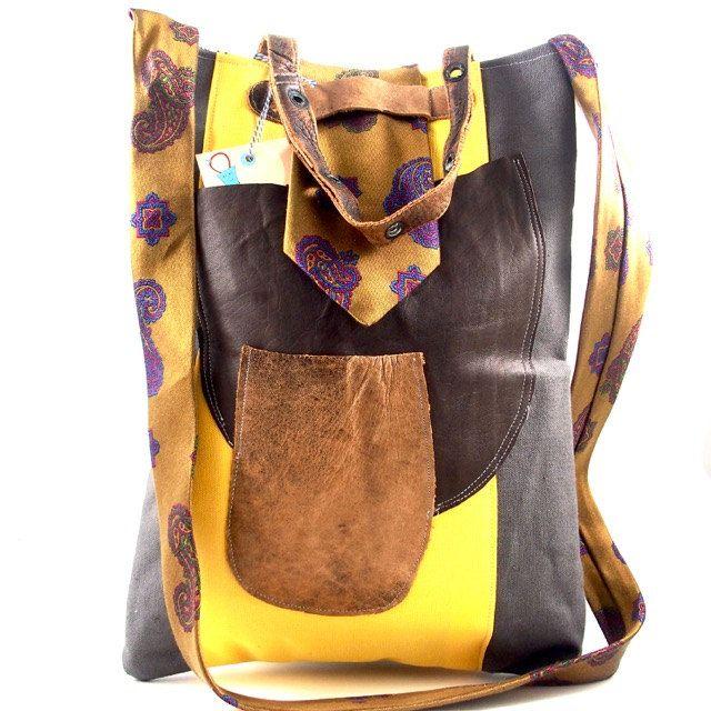 Shoulderbag/handbag Elly, crossbody, boho, urban, vintage door Liekebieke op…