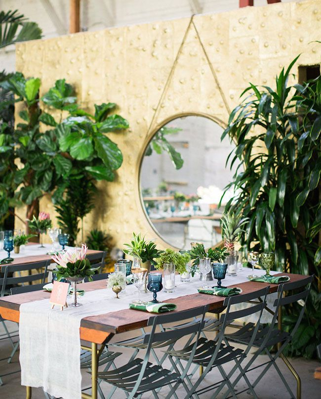 borrowed BLU//tropical tablescape on Green Wedding Shoes