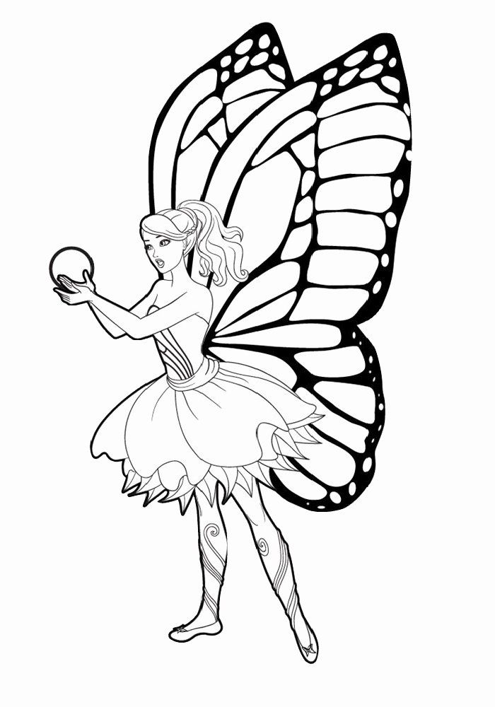 Butterfly Princess Coloring Pages Luxury Barbie Mariposa And The Fairy Princess Coloring Page In 2021 Princess Coloring Princess Coloring Pages Butterfly Coloring Page