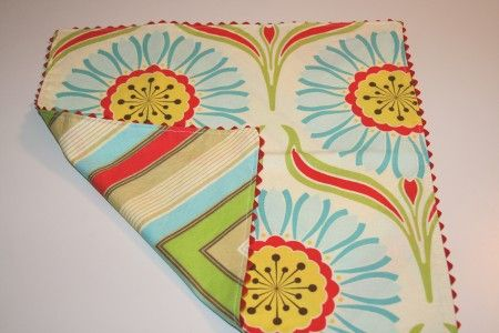 Reversible rick rack napkins