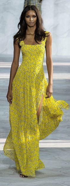@roressclothes clothing ideas #women fashion yellow Dress